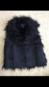 Black Suede/Fur Girls Vest in Chicago, Illinois