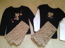2 pc. Girl 6 Leopard Outfits in Chicago, Illinois