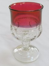 Reduced~Vintage Red Ruby Small Goblet in Aurora, Illinois