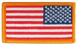 NIP American Flag Patch 3 1/4 X 1 13/16 Reversed 2 Pieces/Pkg  (T=1) in Clarksville, Tennessee