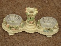 Candle Holder w/ Lead-Crystal Side Dishes in Spangdahlem, Germany
