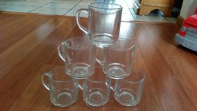 MARKED DOWN: 6 Pc Clear Glass Coffee Mugs in Bolingbrook, Illinois