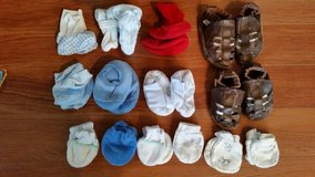 14 Pc 0-12 Months Baby Booties & Hand Mittens (unavail can't find) in Naperville, Illinois