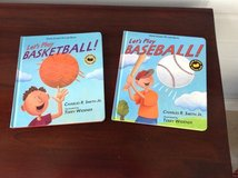2 hardcover Sports Books. - Let's Play Basketball & Baseball in Bolingbrook, Illinois